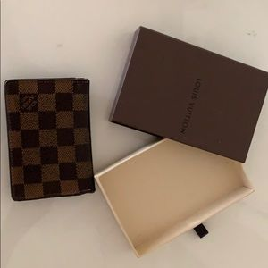 Authentic Louis Vuitton Wallet Damier With box